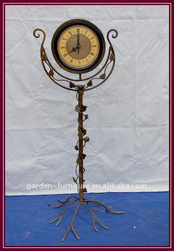 iron outdoor chairs office chair vastu cast metal antique floor standing clock grandfather - buy china clocks,free ...