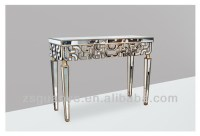 Living Room Console Table And Mirror Set