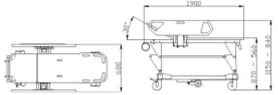 LS-3C hospital manual patient folding trasfer stretcher