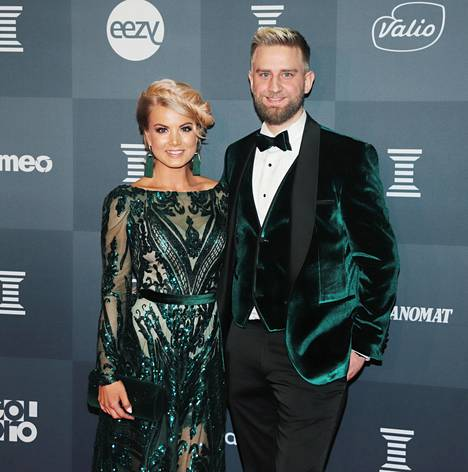 Hussi and Harkimo posed together at the Sports Gala in January.