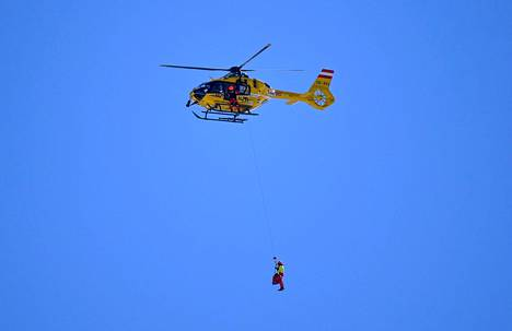 Kajsa Vickhoff Lie was picked up by helicopter and rushed to hospital.