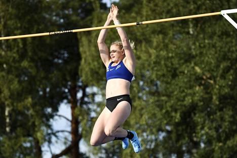 Wilma Murto won the pole vault Finnish championship in August 2019 with a result of 426.