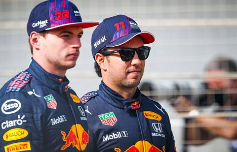 Niki Juusela believes in Red Bull's ability to challenge Mercedes.  Pictured are Red Bull drivers Max Verstappen (left) and Sergio Perez, who drove at Racing Point last season.