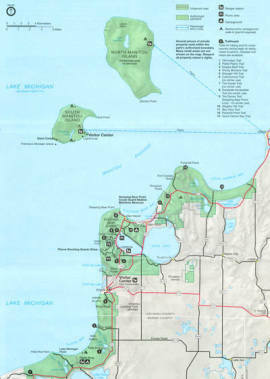 Sleeping Bear Dunes National Lakeshore Michigan Trail Maps