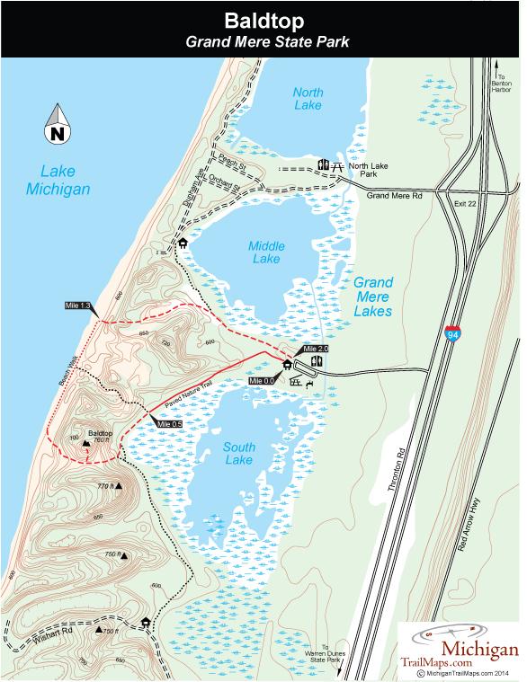 Grand Mere State Park Michigan Trail Maps