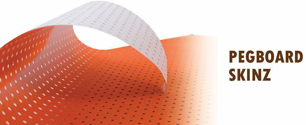 Pegboard Skinz  Product Displays Overlays  Panel Processing