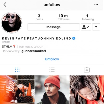 Unfollow - Kevin Faye Feat. Johnny Edlind mp3 download