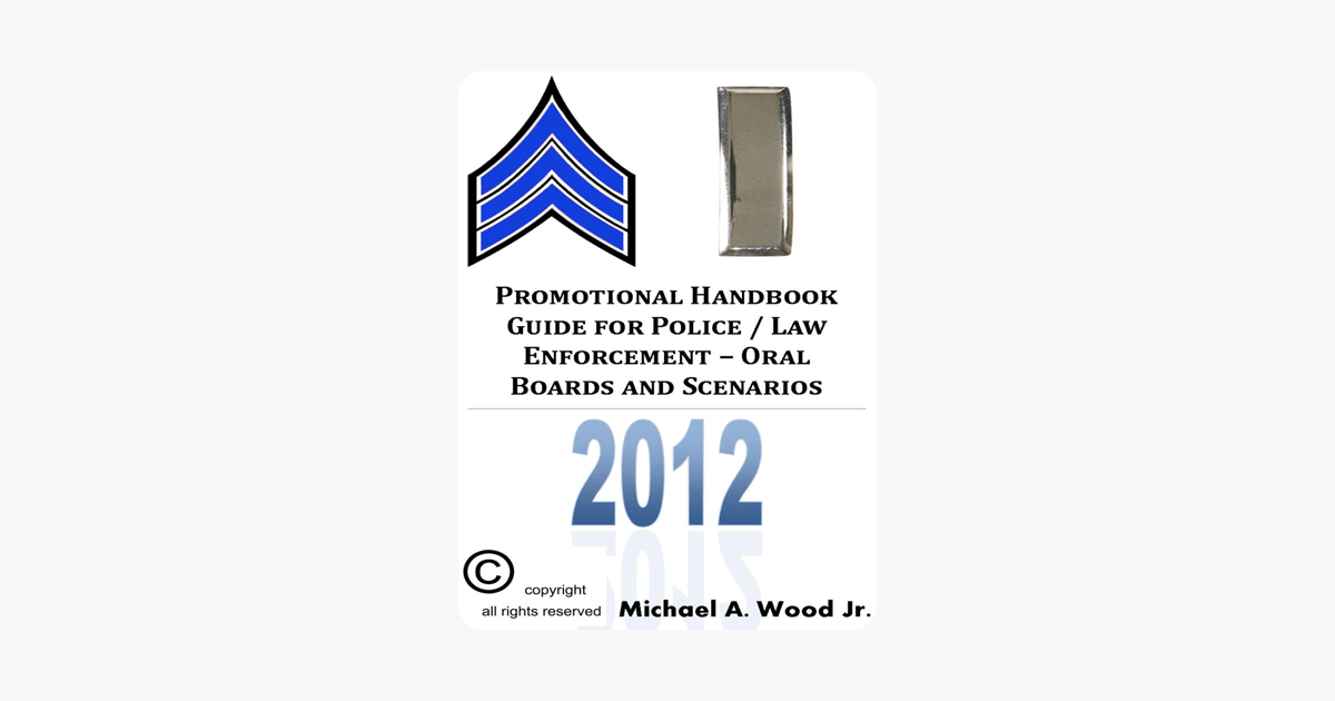 Promotional Handbook Guide for Police / Law Enforcement