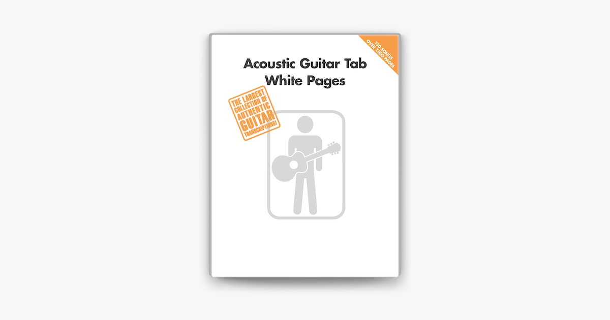 ‎Acoustic Guitar Tab White Pages (Songbook) on Apple Books