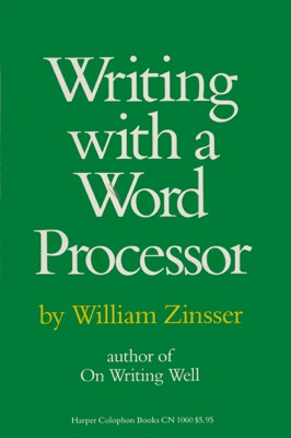 Writing with a Word Processor - William Zinsser pdf download