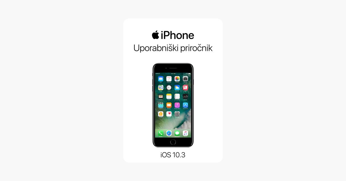 Uporabniški priročnik za iPhone za operacijski sistem iOS