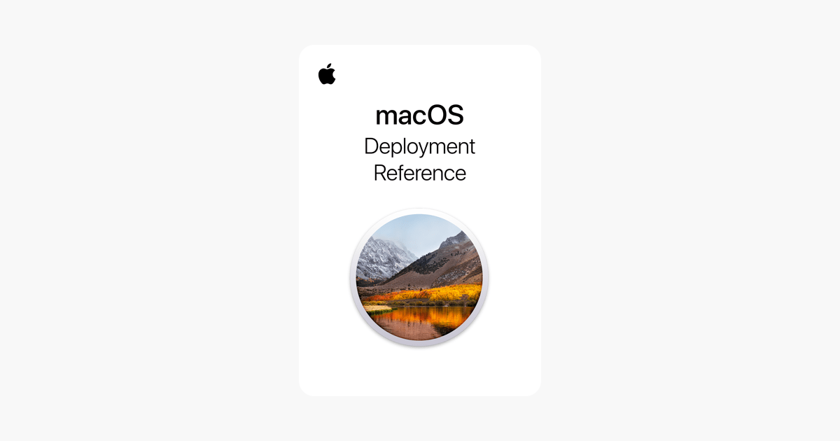 macOS Deployment Reference on Apple Books