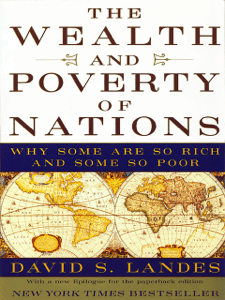The Wealth and Poverty of Nations: Why Some Are So Rich and Some So Poor - David S. Landes pdf download