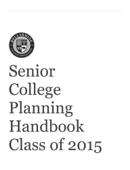 (PDF) Senior College Planning Handbook Class of 2015 by