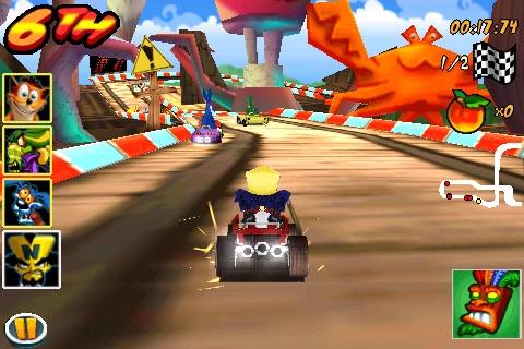 Crash Bandicoot Nitro Kart 3D Screenshot