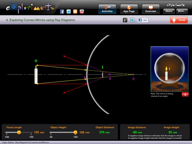 mirror ray diagram simulation basic auto ac wiring exploriments light optics diagrams for concave and convex mirrors lenses 4