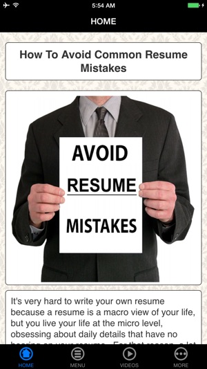 A+ Avoid Resume Mistakes - Check Before Submit on the App Store