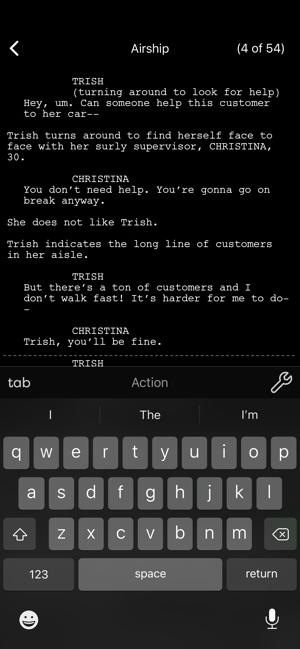 Final Draft Mobile Screenshot