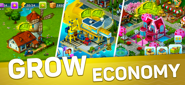 SuperCity: Town Building Game Screenshot