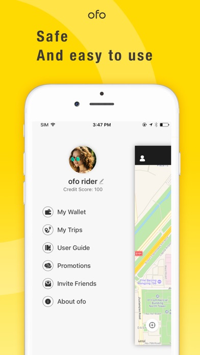 ofo - Ride Sharing Platform Screenshot