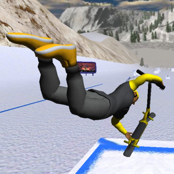 Snowscooter Freestyle Mountain 3D