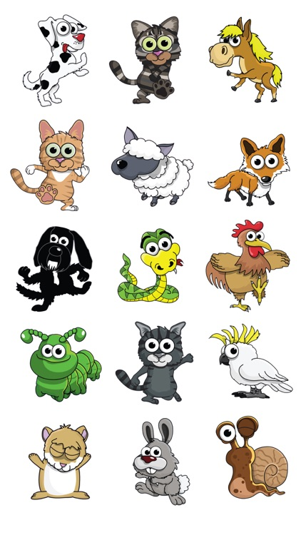 dancing pets animated stickers