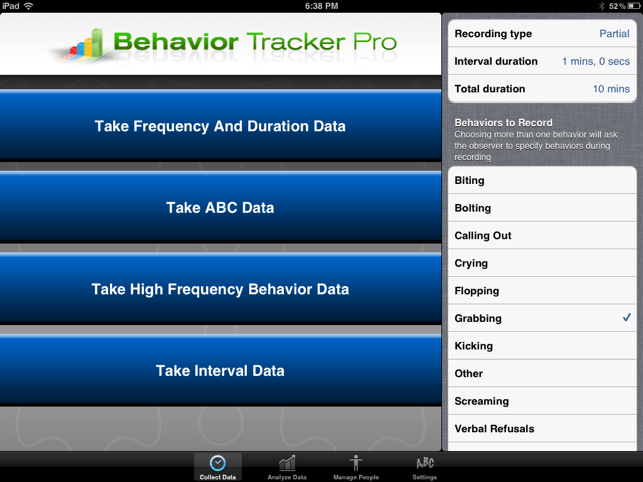 ‎Behavior Tracker Pro Screenshot