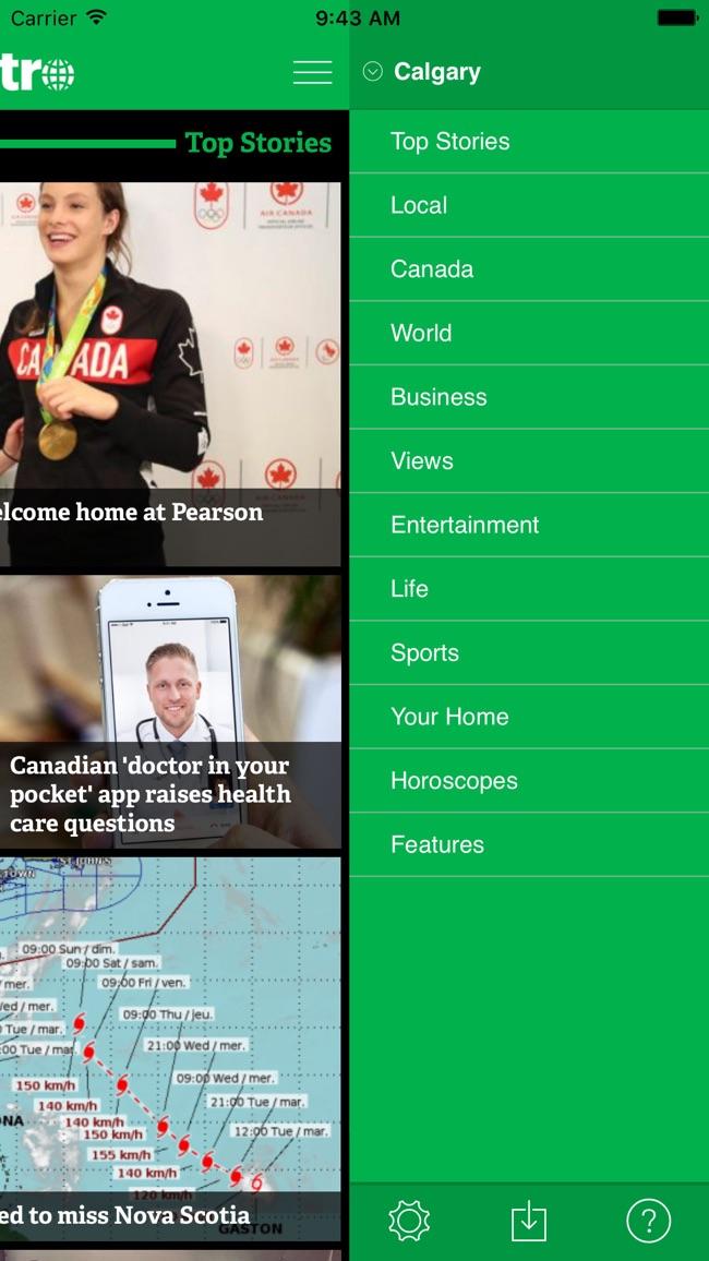 Metro News Canada Screenshot