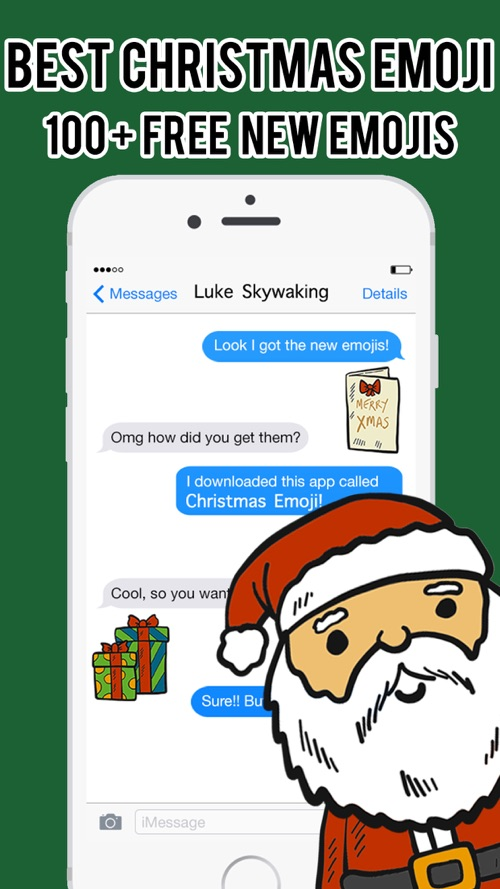 Download Emoticon Bbm Gratis : download, emoticon, gratis, Christmas, Emoji, Stickers, Messenger, Keyboard, Download, IPhone, STEPrimo.com