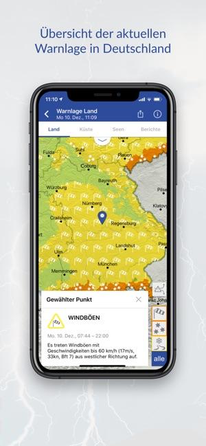 WarnWetter Screenshot