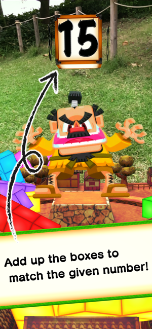 ‎Math Ninja AR - Box Battle - Screenshot