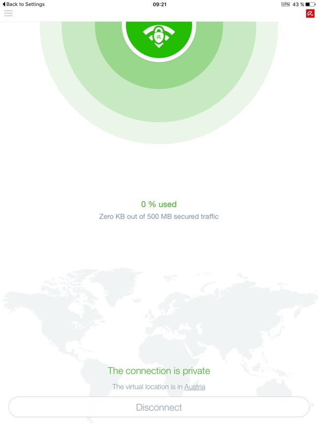 Avira Phantom VPN & Wifi Proxy Screenshot