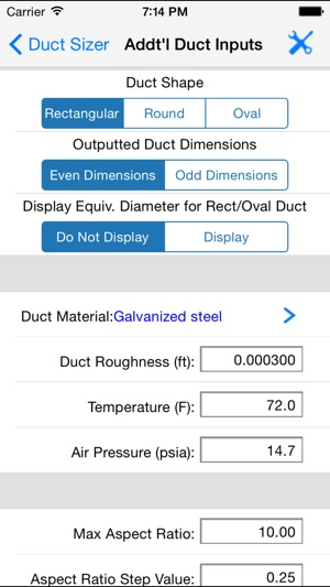 HVAC Duct Sizer on the App Store