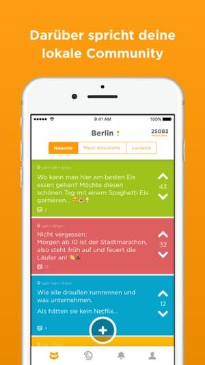 Jodel - Die hyperlokale App Screenshot