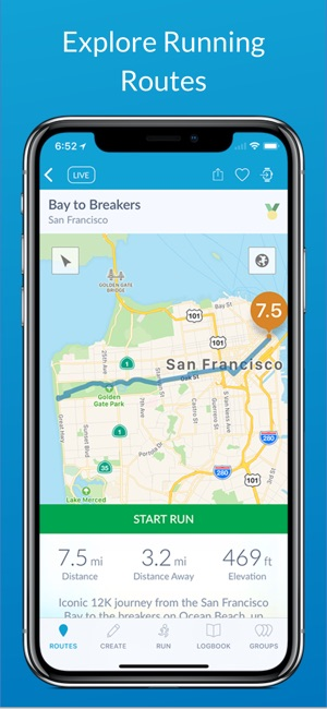 RunGo - The Best Routes to Run Screenshot