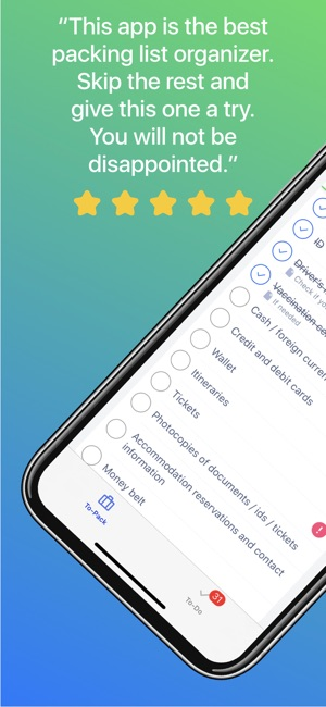 Packing List on the App Store
