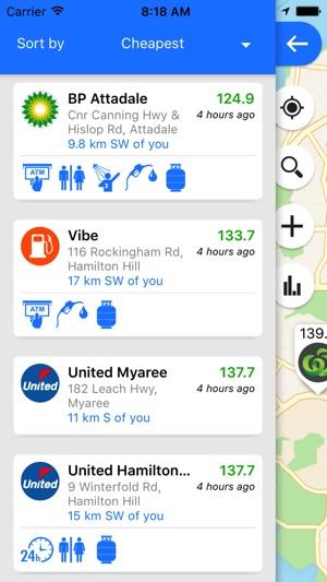 Fuel Map Australia Screenshot