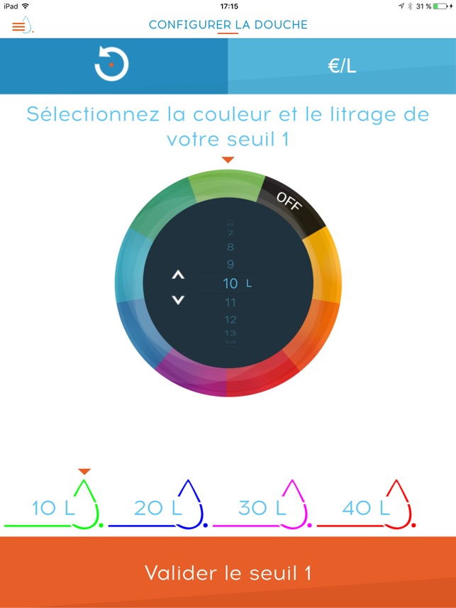 Hydrao Smart Shower Capture d'écran