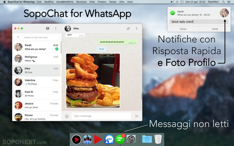 SopoChat per WhatsApp iPhone