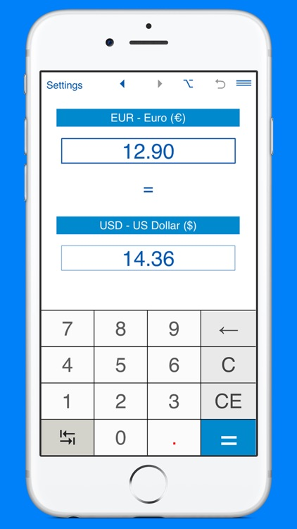 US Dollars to Euros and EUR to USD converter by Intemodino