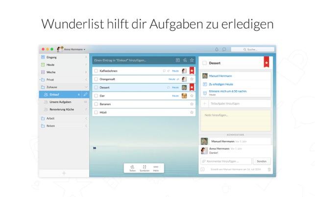 Wunderlist: To-Do Liste Screenshot