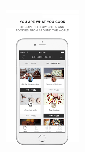 ‎Cookbooth. Photo recipes by chefs and foodies. Taste Festival London Screenshot