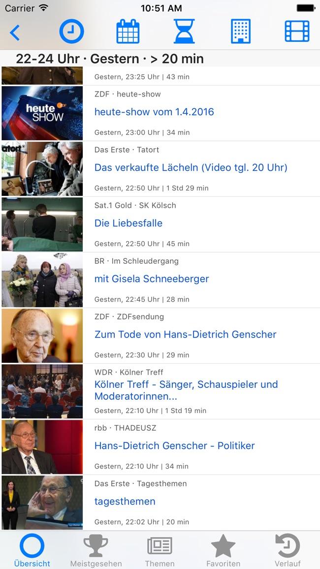 Fernsehsuche - Die Mediathekenübersicht Screenshot