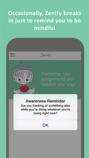 ‎Zenify - Meditation and Mindfulness Training Techniques for peace of mind, stress relief and focus Screenshot