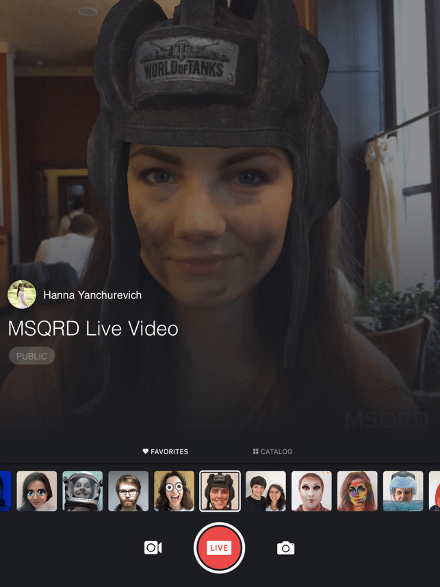 ‎MSQRD — Live Filters & Face Swap for Video Selfies Screenshot