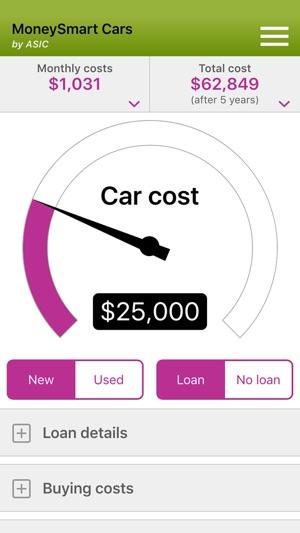 MoneySmart Cars Screenshot