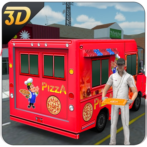 pizza delivery van 3d