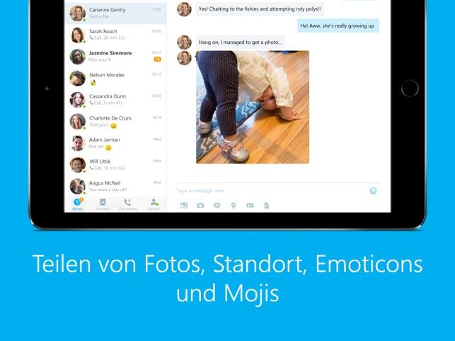 Skype für iPad Screenshot