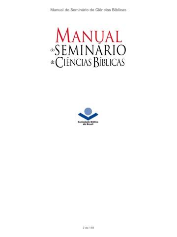 Manual do Seminário de Ciências Bíblicas de Paulo R