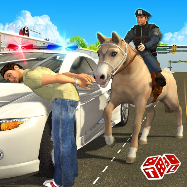 Police Horse Chase 3D - Sheriff Arrest the Thief & Robbers to Control the Town Crime Rate
